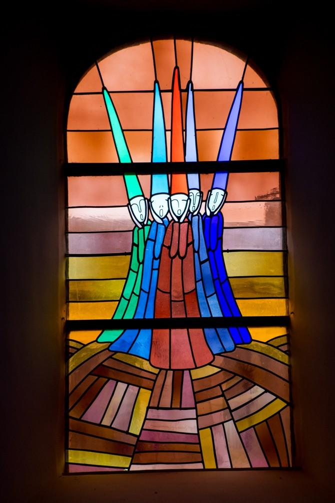 De kerkramen van Waha