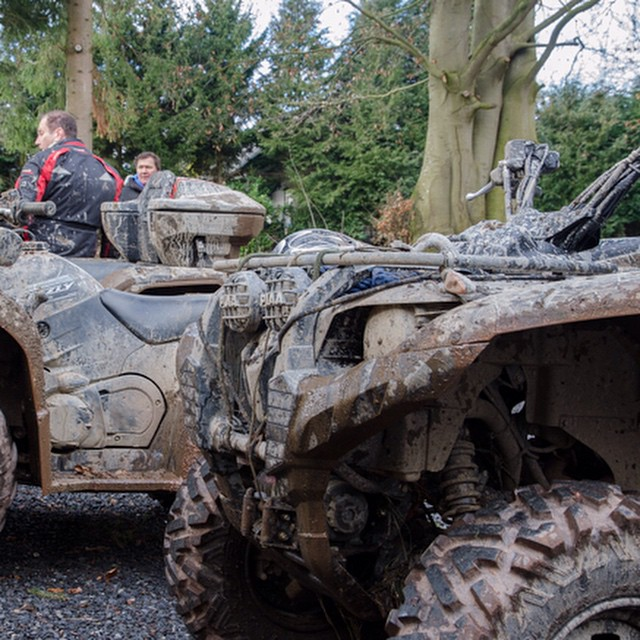 Beetje modder  #Ardennen #Quad #outdoor #bos #survival